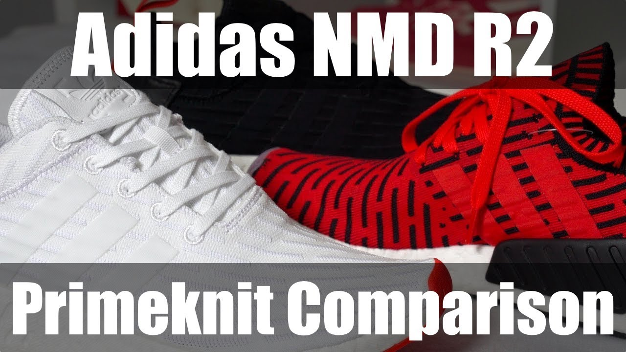7d604e8828a06 Adidas NMD R2 Primeknit - Core Red Pack - YouTube