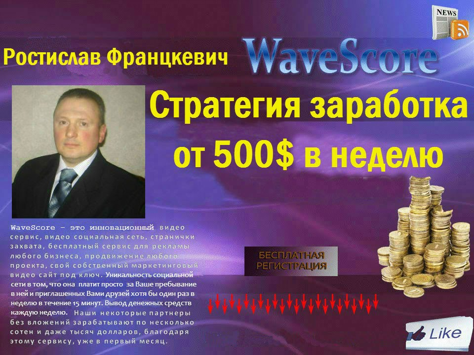 Wavescore. Стратегия заработка от 500$ в неделю | заработок на автопилоте от 500