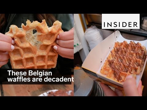 These Belgian waffles are decadent