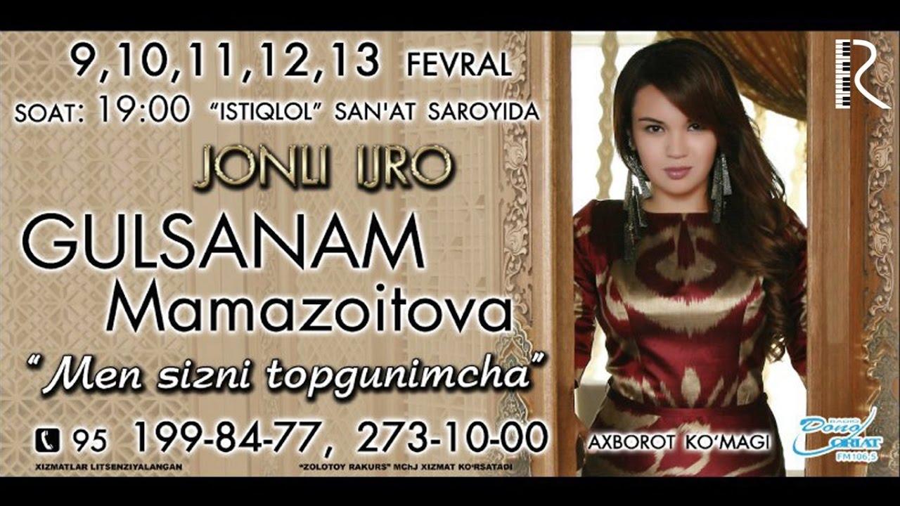 Gulsanam Mamazoitova - Men sizni topgunimcha nomli konsert dasturi 2016 #UydaQoling