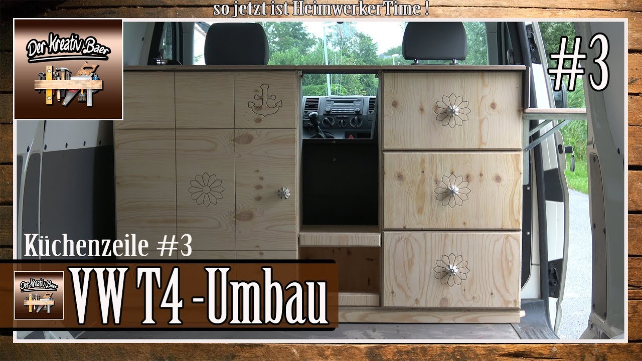 eine k chenzeile f r den vw t4 selber bauen 3 youtube. Black Bedroom Furniture Sets. Home Design Ideas