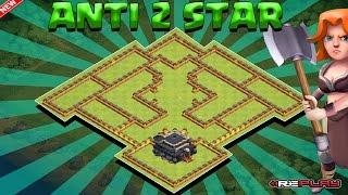 Clash Of Clans - TH9 (TOWN HALL 9) WAR/TROPHY BASE ANTI VALK ANTI HOG - SPEED BUILD
