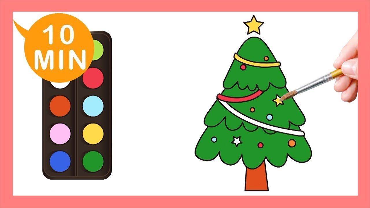 《聖誕樹Christmas tree》認識顏色Coloring for kids|Painting|Coloring ...