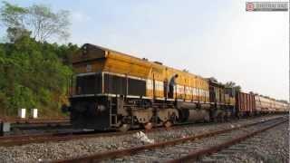 Engine Cranking of Yellow EMD GT46MAC / WDG4 12011