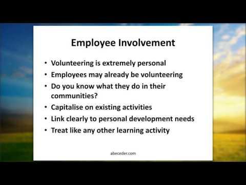 Using Employee Volunteering to achieve Employee Development