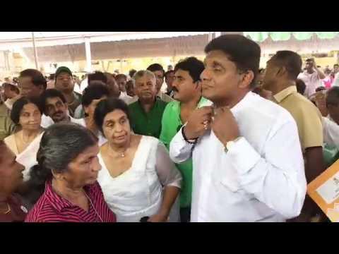 Sajith Premadasa distributing deeds to 1,710 families