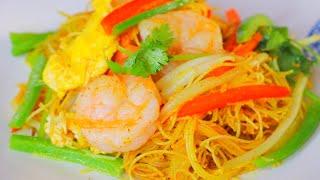 Singapore Noodles, Quick u0026 Simple Recipes, CiCi Li - Asian Home Cooking Recipes