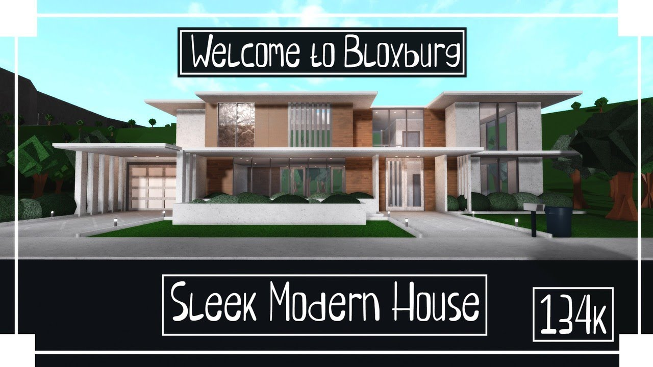 Roblox Bloxburg Modern House Speed Build Sleek Modern House Speedbuild Roblox Welcome To Bloxburg Youtube