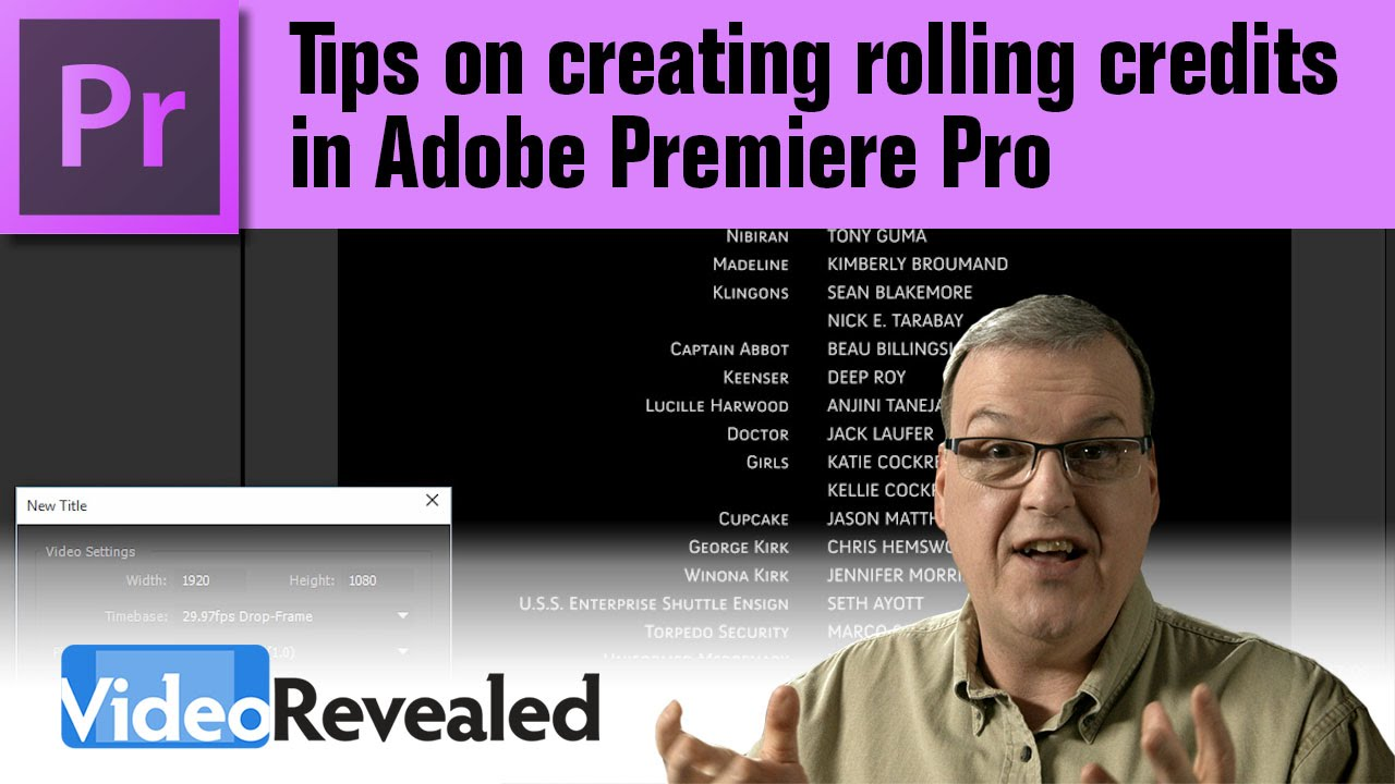 Tips on creating rolling credits in Adobe Premiere Pro