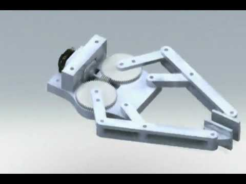 4 Bar Linkage End Effector Robot Gripper Animation Youtube