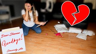 Leaving My Girlfriend With ONLY A GoodBye Letter!!
