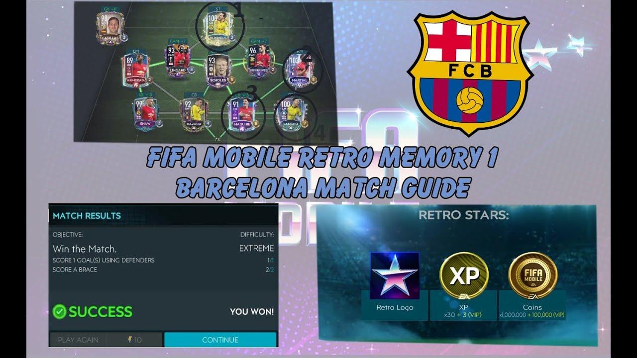 HƯỚNG DẪN HẠ BARCELONA RETRO STAR MEMORY WEEK 1 DỄ DÀNG FIFA MOBILE VIỆT NAM