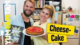 Cheesecake // mit Cookies und Himbeeren // #yumtamtam
