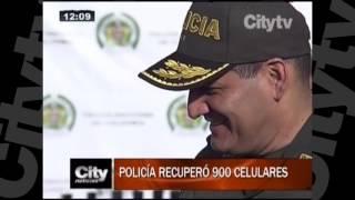 Policía de Bogotá recuperó 900 celulares   CityTv   City Noticias 12   Enero 27