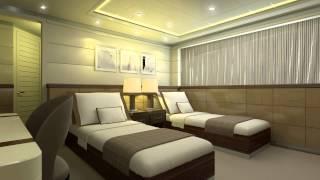 Curvelle yacht flexible bed arrangements