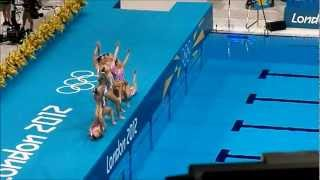 London Olympics 2012 Synchronized Swimming - Team China