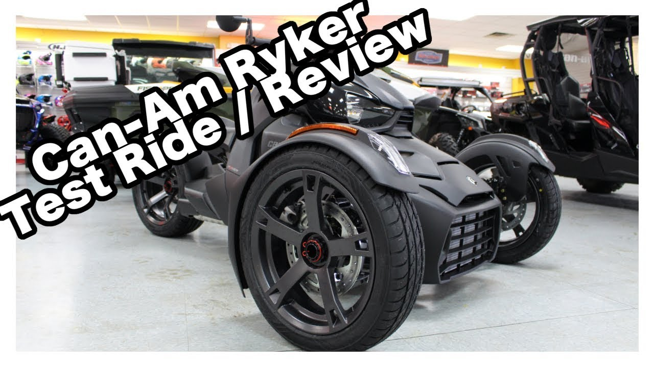 can am ryker test ride review youtube. Black Bedroom Furniture Sets. Home Design Ideas