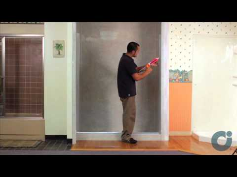 Frameless Shower Door Install - Inline Panel / Configuration   Illusion by Coastal
