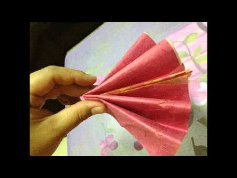 การทำดอกไม้กระดาษสา