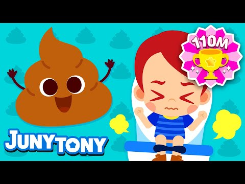 Poo Poo Song | Let's Poo in the Potty | Good Habits Song for Kids | Juny\u0026Tony