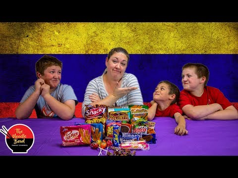 American Family Reacts to Colombian Snacks, Snackcrate Colombia