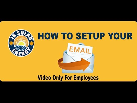 How to Setup Your Email Account in Gmail ( JK SOLAR ENERGY) *For Employees