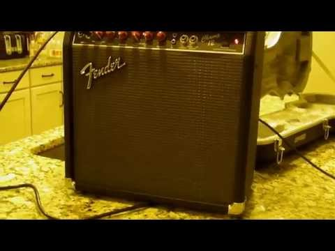 Fender Champ 12 Tube Amplifier with Red Knobs