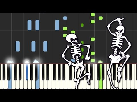 Spooky Scary Skeletons - Piano Cover with Midi + Sheet Music (Spook Warning)