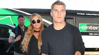 Paris Hilton Flashes A Smile When Asked If She's Getting Engaged To New Beau Chris Zylka