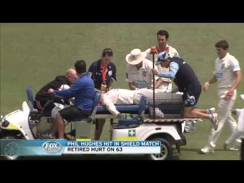 Phil Hughes Australian star cricketer struck in head by ball at SCG