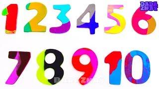 Учим цифры|Учимся считать от 1 до10 c Play Doh|Фрукты Овощи для детей|Учим цвета Плей До