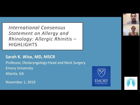 International Consensus Statement On Allergy And Rhinology: Allergic Rhinitis | Naso Sano GrandRound