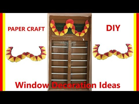 Home Window Decoration Ideas | DIY Double Colour Paper Craft | Paper Craft | Easy Craft for Kids