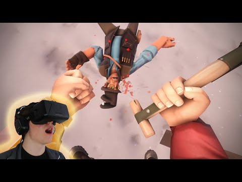 Oculus TF2! Virtual Reality Gaming! First Person Disorientation. Oculus Rift Gameplay.