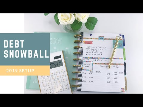 Debt Snowball SetUp #debtsnowball #2019 #debtfreedom