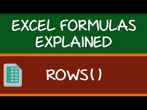 ROWS Formula in Excel