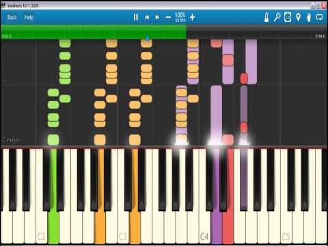 Bebaskan (Sensasi Plong) - Ahmad Dhani feat. Cynthia Sari | Piano Tutorial  Synthesia