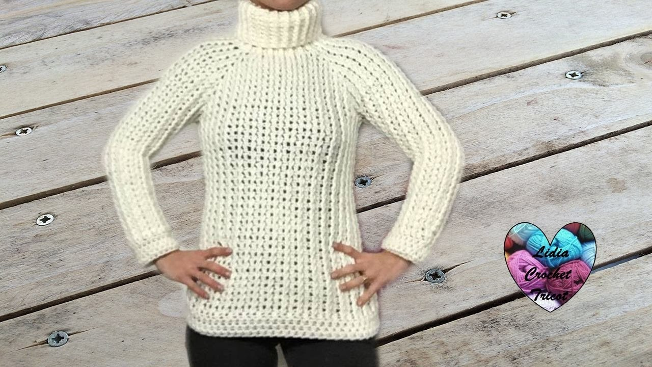 Sweater All Sizes Crochet English Subtitles 22