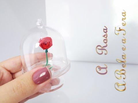 Como fazer uma Rosa Encantada | Rosa para Barbie | A Bela e a Fera