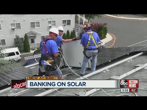 Solar industry on the rise in Tampa, nationwide