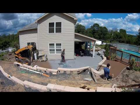 Time-Lapse Stamped Concrete Patio (Seamless Old Granite)