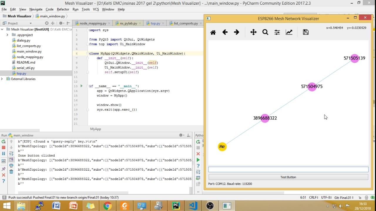 ESP8266 painlessMesh Topology Visualizer in Python – Everything