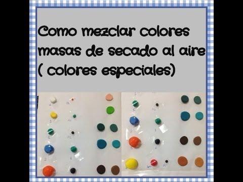 Como mezclar colores iclay fimo/mix colors drying air masses - YouTube