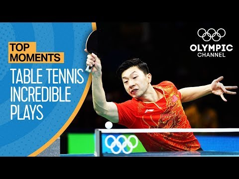 Top Crazy Table Tennis Rallies at the Olympics | Top Moments