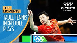 Top Crazy Table Tennis Rallies at the Olympics   Top Moments