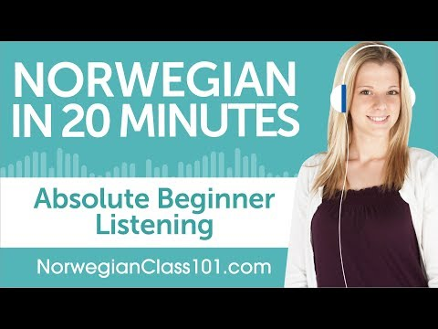 20 Minutes of Norwegian Listening Comprehension for Absolute Beginner