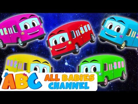 Wheels The Bus   Five Little Buses   Nursery Rhymes & Kids Songs   All Babies Channel