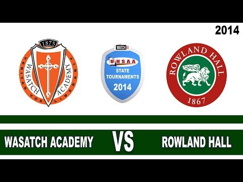 2A Boys Basketball: Wasatch Academy vs Rowland Hall Utah High School State Tournament 2/22/14 Game 7