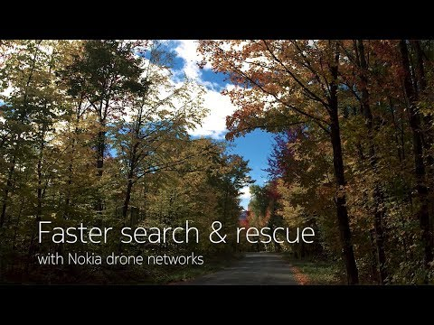 Faster search & rescue with Nokia drone networks