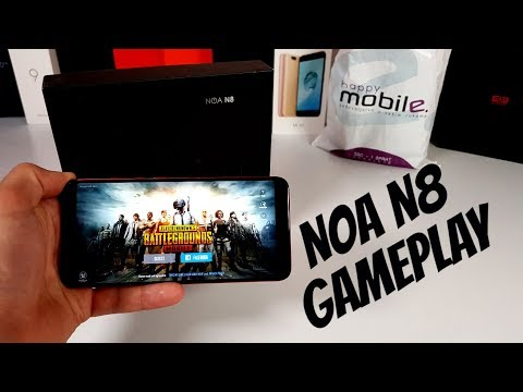 NOA N8 PUBG Mobile Gameplay&Rules of Survival MT6750T gaming test/2018